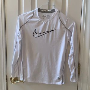 Boys Nike Pro performance shirt white- large
